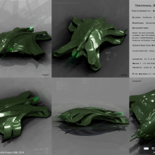Xarxan Class Gohorn Reconnaissance Fighter - Technical Specification View by Anton Cherevan