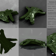 Raqwan Class Gohorn Fighter Bomber - Technical Specifical View by Anton Cherevan
