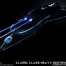 Clarel Class Heavy Destroyer Concept by Frode Abrahamsen