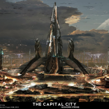 Capital City Matte Painting by Adam Burn