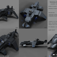 Vulture Class Terran Atmospheric Fighter Tech Spec by Anton Cherevan