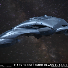 Mary-Rosebourg Class Rosebourg Flagship Concept by Anton Cherevan